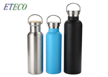 Custom Double Wall Insulated Water Bottle , Reusable Metal Sports Bottle