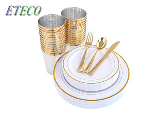 Food Grade Noncorrosive Steel Wedding Cutlery Sets Non Toxic Home Using